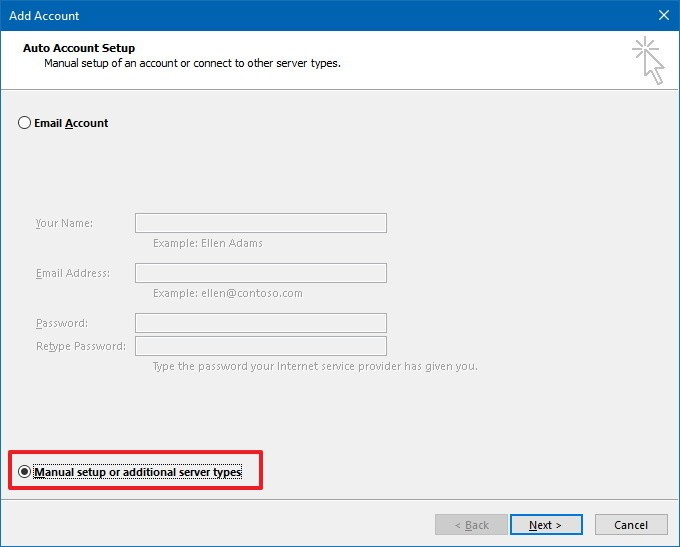manually archive emails in outlook 2013