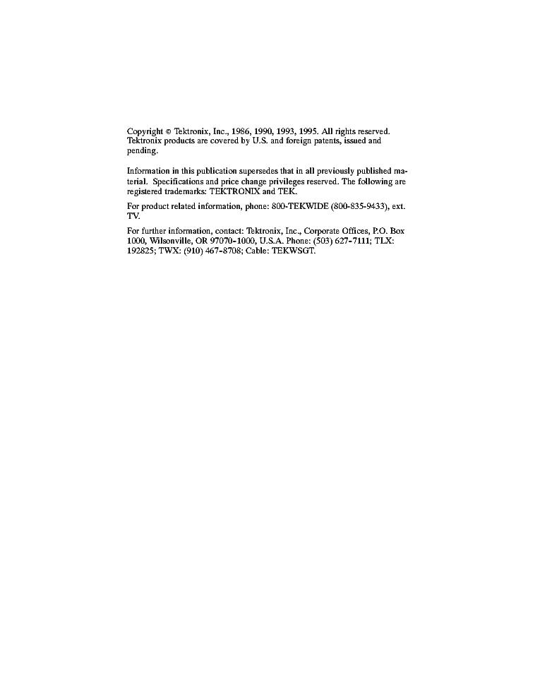 1421 tektronix vectorscope service manual