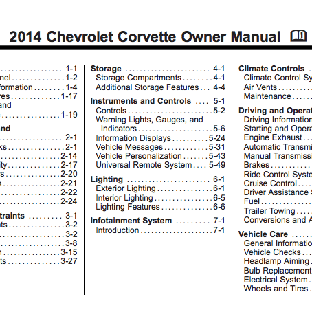 1978 corvette corvette owners manual download
