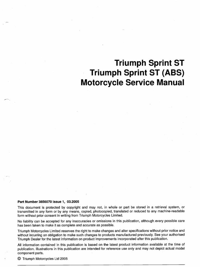 2011 triumph bonneville service manual