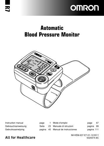 and digital blood pressure monitor ua-767 instruction manual