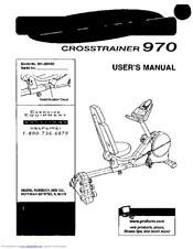 kettler cross trainer user manual