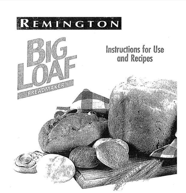 remington breadmaker bm100 manual download recipe