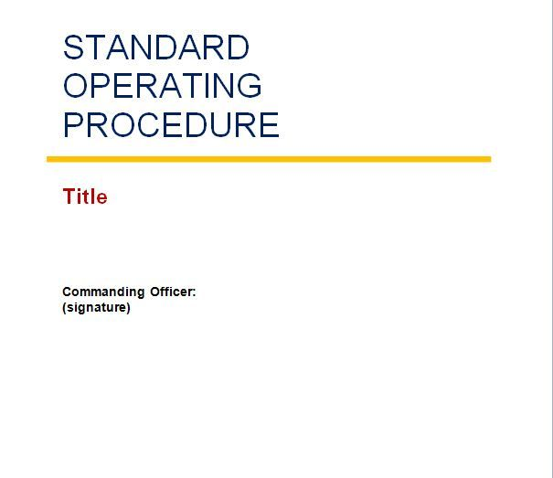 company organisational policy and procedures manual