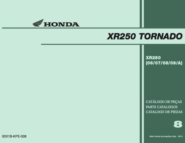 honda xr 250 tornado service manual