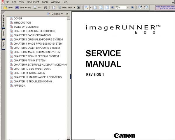 canon inkjet printer repair manual