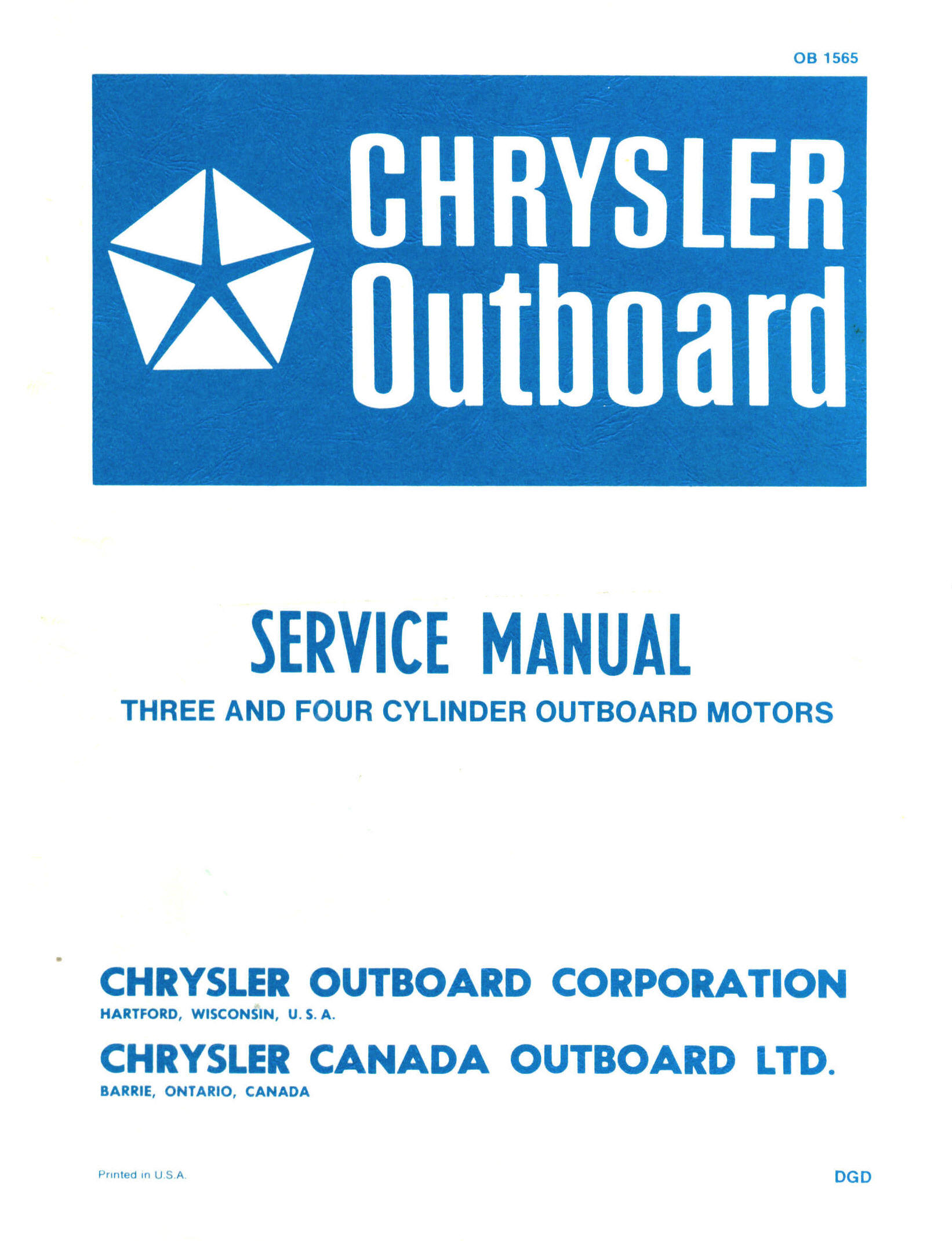 chrysler 115 hp outboard motor manual