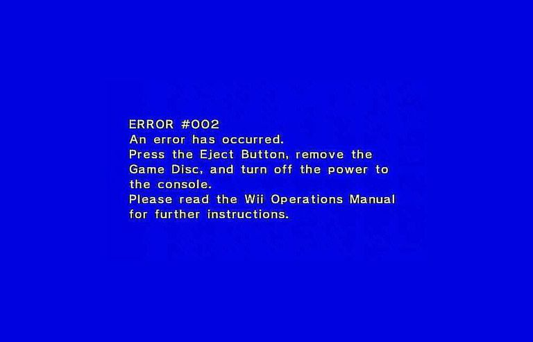 wii u operations manual unable to read disc