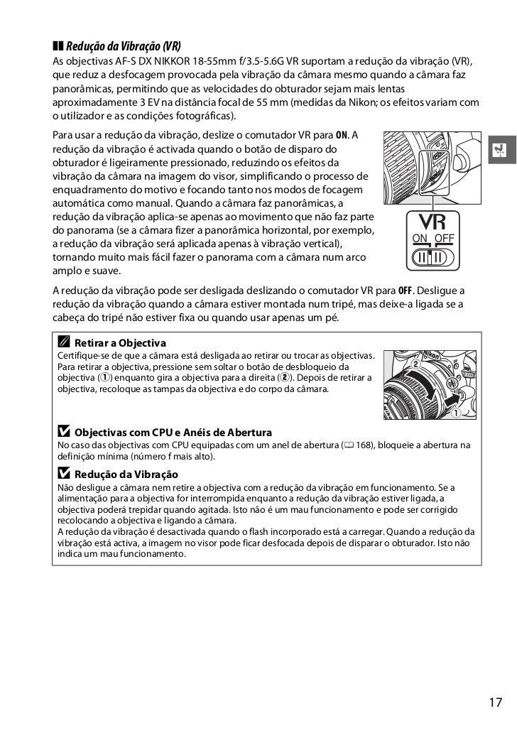 manual nikon d3300 em portugues