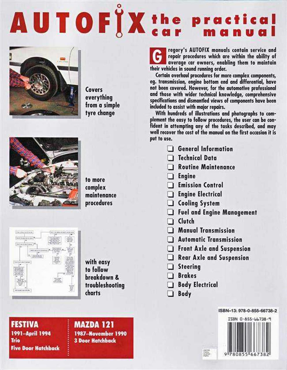 1997 ford festiva workshop manual