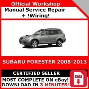 2003 subaru forester workshop manual