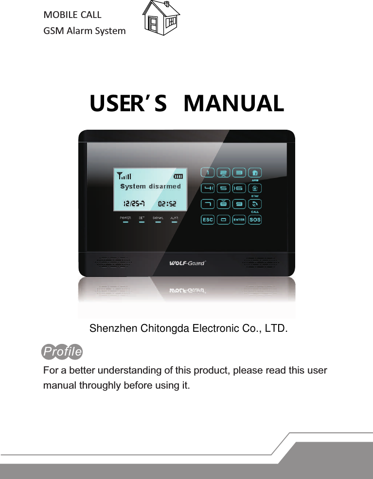 homsecur gsm alarm system user manual