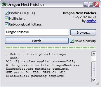 dragon nest manual patch 230