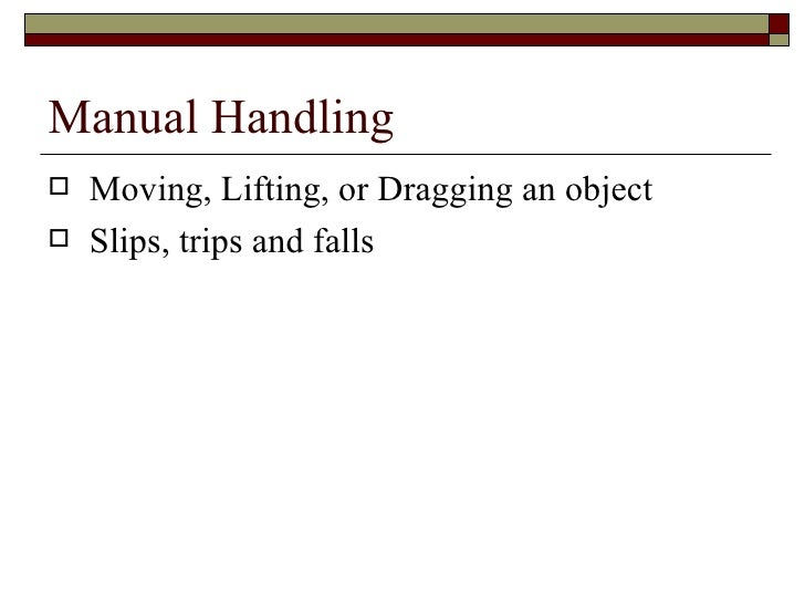 occupational overuse syndrome from hazardous manual handling