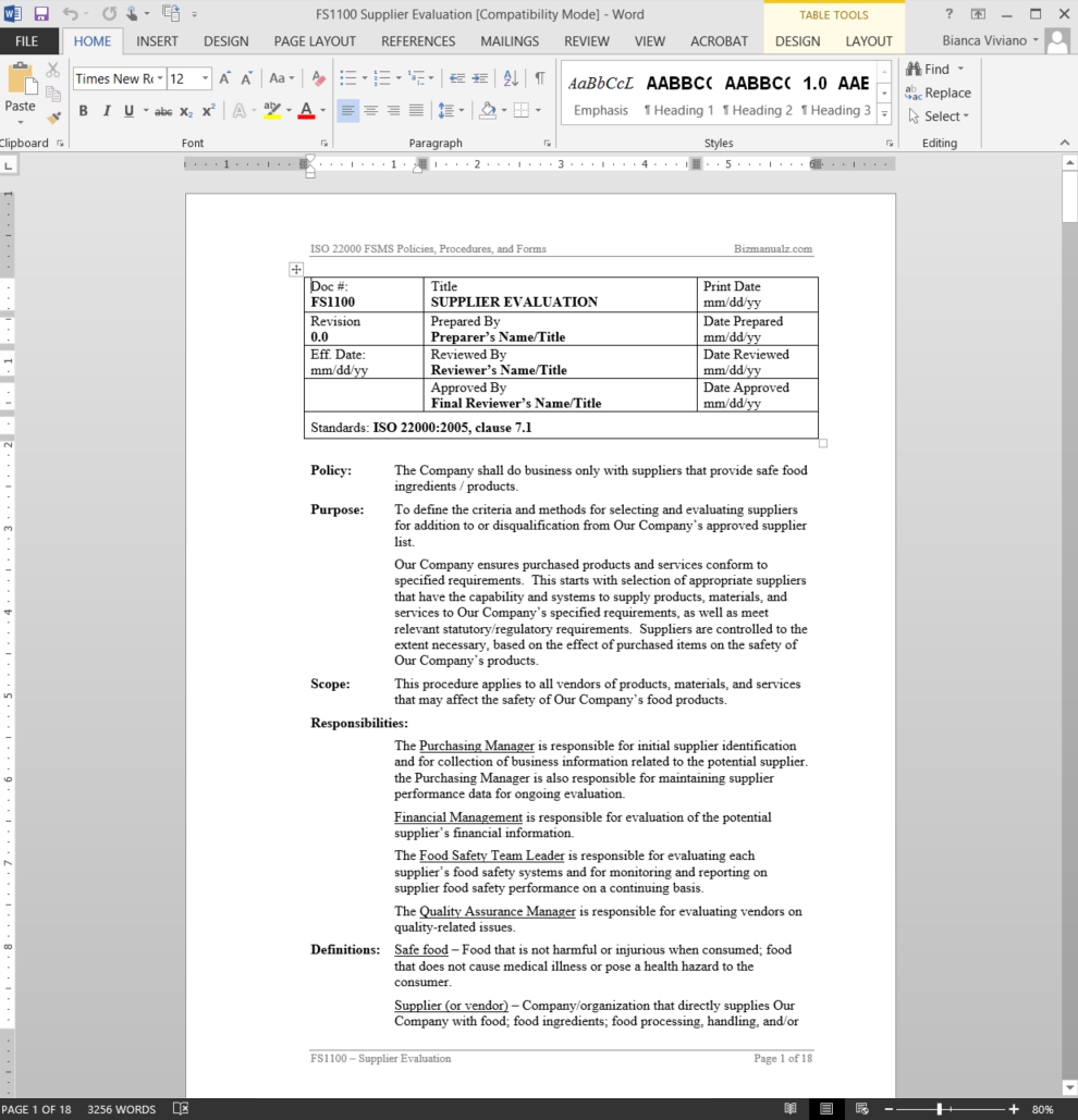 iso 9001 manual for construction company