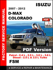 isuzu d-max holden colorado 2007-2012 repair service manual pdf