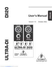 behringer di100 ultra-di box manual