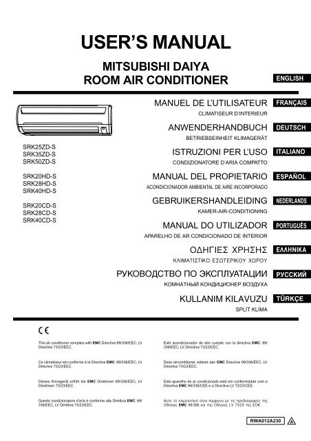 mitsubishi heavy industries inerter air conditioner manual