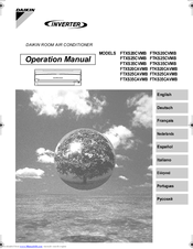 daikin operation manual remote controller