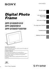sony digital photo frame dpf-a710 manual