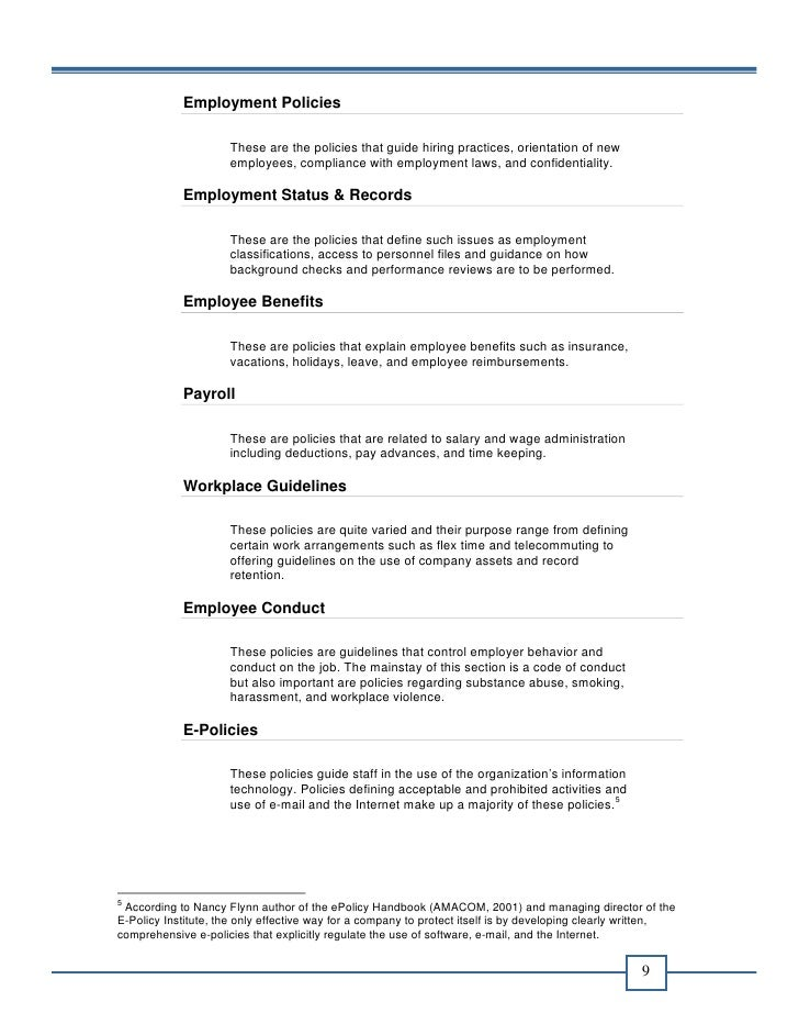officeready office policy manual template
