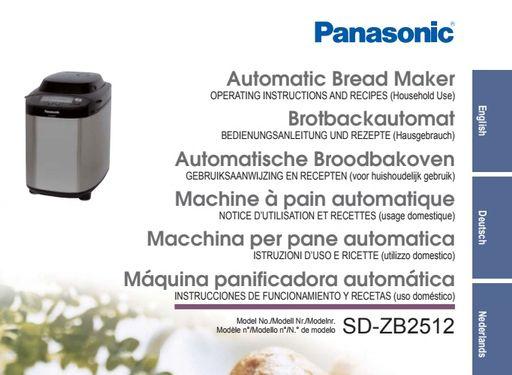 panasonic bread maker manual sd-zb2512